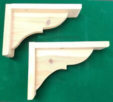 2 x pine wooden shelf brackets gallows bracket 150mm x 230mm freepost