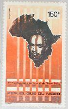 NIGER 1980 713 520 4th Death Ann Steve Bantu Biko Map Karte Africa Bürgerrecht**