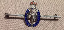 Antique Silver And Enamel Military Sweetheart Brooch Royal Corps of Signals
