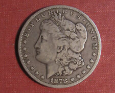 1878-CC MORGAN DOLLAR - CARSON CITY MINT, FIRST YEAR ISSUE, VERY NICE COIN!