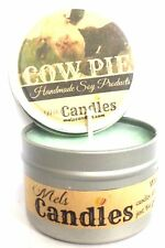 Cow Pie - Fresh Cut Grass - 4 ounce All Natural Soy Candle Tin - Handmade in Rol