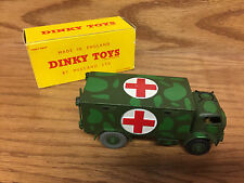 DINKY Toys US MILITARY AMBULANCE 626 with Original Box!  Custom Camo Paint Job!