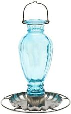 Perky-Pet 8136-2 Daisy Vase Vintage Glass Wild Bird Waterer, 16 Oz
