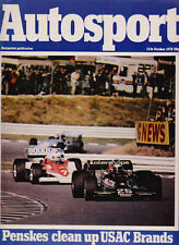 Autosport 12 Oct 1978 - Canadian Grand Prix, Brands Hatch USAC, San Remo Rally