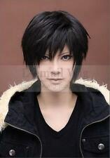 AW6 - Japanese Anime Durarara Izaya Orihara Costume Male Short Hair Wig Black