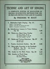 Introductory Lessons in Voice Culture Op. 22 by Frederic W. Root