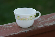Old Vintage Pyrex Microwave Safe Corning NY USA Cup Mug Milk Yellow Green Glass