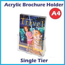 A4 Acrylic Brochure Holder Sinlge Tier