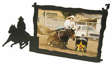 "Barrel Racer #2 Leaving Racing Rodeo Horse Picture Frame 5""x7"" H"
