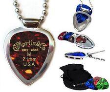 Pickbay guitar pick holder pendant necklace & Martin & Sons Guitar Picks Set