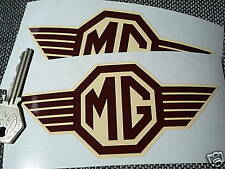 MG Coffee 'n cream 'straked' classic car stickers MG T