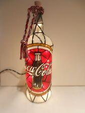 Coca Cola Inspired Bottle Lamp Bottle Light Hand Painted
