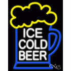 """NEW """"ICE COLD BEER"""" 31x24 W/LOGO REAL NEON BUSINESS SIGN w/CUSTOM OPTIONS 11735"""
