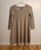 American Eagle Womens Tan Brown Knit Sweater Dress Sz Petite XS