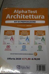 ALPHA TEST ARCHITETTURA KIT DI PREPARAZIONE 3 VOLUMI
