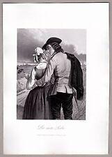 A.H.Payne - Tracht, Liebespaar - Die erste Liebe - Stahlstich 1846