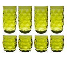 QG Colorful Acrylic Plastic 14 & 23 oz Cup Drinking Glass Tumbler Set of 8 Green