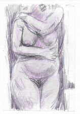 Standing Voluptuous Female Nude by James Bone1997