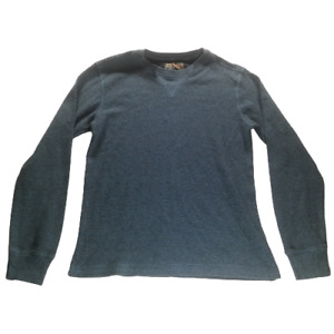 First Wave Boys Large Pullover Sweater Blue Long Sleeve Casual Crew Neck 05349