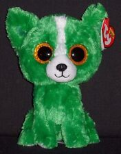 "TY BEANIE BOOS - DILL the 6"" GREEN DOG - GIFT SHOW EXCLUSIVE -MINT with MINT TAG"