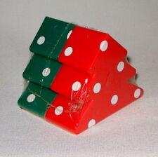 NWT UNUSED RED AND GREEN POLKA DOT CHRISTMAS TREE SALT & PEPPER SHAKERS HALLMARK
