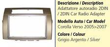 Mascherina Autoradio 2din per TOYOTA COROLLA Verso 2005-2007 Silver