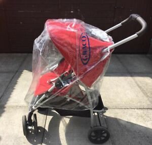 Graco Red Travel System Single Seat Stroller Pushchair Buggy
