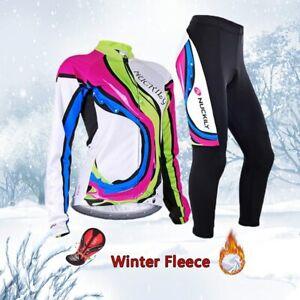 Free shipping Women winter cycling jersey set 2020 Thermal Fleece bike clothing