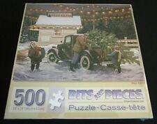 🌲 New TREE FARM 500 Piece Jigsaw Puzzle Christmas * Bits & Pieces SEALED 🌲