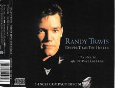 "RANDY TRAVIS - Deeper than the holler 3""inch CD SINGLE 4TR 1988 Germany"