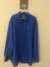 Cabelas Guidewear Mens 3Xl Tall Blue Button Front Shirt Long Sleeve 4Most Upf 30