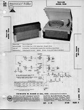 1960 TRAV-LER 1008 RECORD PLAYER CHANGER AMPLIFIER SERVICE MANUAL PHOTOFACT FIX