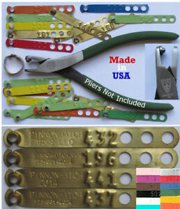 Leg Bands 200pk Customized Personalized Custom Chicken Poultry Leg ID Rings Tags
