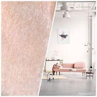SWATCH -Designer Velvet Chenille Fabric - Ballet Pink - Upholstery