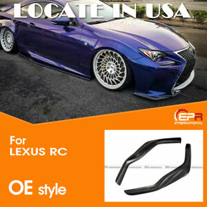 For Lexus RC200t RC350 15-16 F Sports Carbon Fiber Front Bumper Lip