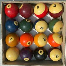 Vintage Pool Billiard  Balls - Standard Made In Belgium - In Original Box