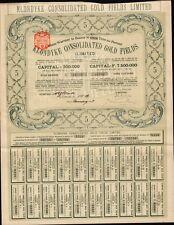 MINING :Klondyke Consolidated Gold Fields Ltd dd 1903 - Klondike Alaska