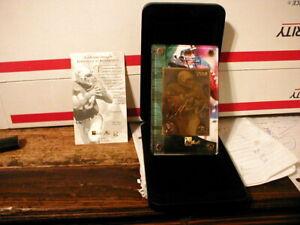 Dan Marino 1984 Danbury Mint 24kt Commemorative Card, original case