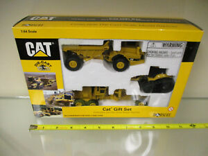 Cat 12G Grader D25D Truck and Challenger 45 3 Pc Set by Norscot 1/64th Scale !
