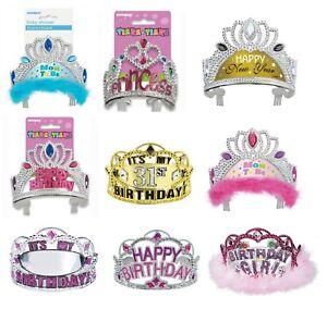 TIARA - Birthday Party Princess - Dress Up - Baby Shower Wedding Glitz