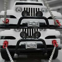 For SCX10 Crawler RC Car T-power 1/10 Metal Trailer Hook Tow Chain Shackle