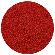 Lot of 2500pcs DIY 11/0 Rocaille 1.8mm Small Round Glass Seed Beads red