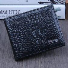 Portefeuille Homme en cuir véritable, Porte cartes de crédit / argent / Billets