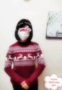 Damen Jugend Weihnachten Pullover Xmas Weihnachtspulli Tops