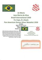 ZE MARIA BRAZIL INTL 1959 ORIGINAL AUTOGRAPH CUTTING/CARD