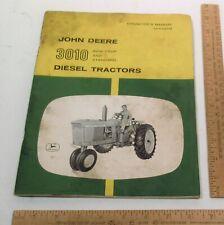 Operator'S Manual - John Deere - 3010 Diesel Tractors - Om-R28873R