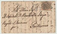 PONTIFICIO 29.8.1863 - 3 baj su lettera per Pontecorvo  / P25572