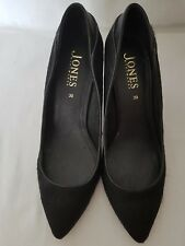 Jones Bootmaker Chelmsford 2 Ladies Black Leather Cowhide Occasion Shoes 39 UK 6