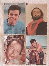 4 FIGURINE RACCOLTA ALBUM CANTANTI ANNI '60 LUCIO DALLA DINO F. CICLIANO .....