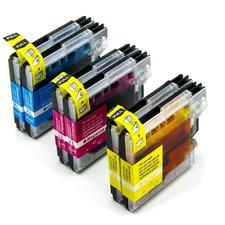6 Drucker-Patronen für Brother DCP195C DCP165C 145C MFC-250C 490CW LC980 LC110